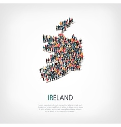 People map country Ireland vector