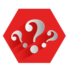 Question mark symbol icon vector