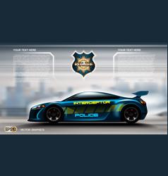 realistic police car futuristic concept vector image