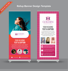 Retro rustic and pink rollup banner with gradient vector