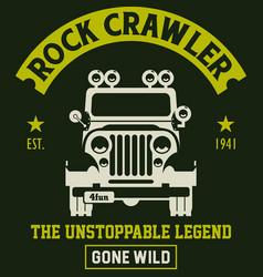Rock crawler vector