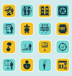 Set 16 administration icons includes special vector