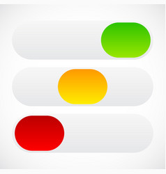 Slider button template in on off standstates vector
