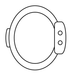 smart wristband icon outline style vector image