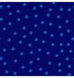 Star blue seamless pattern vector image