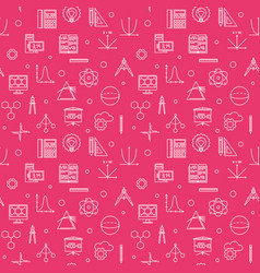 stem education outline seamless pattern vector image