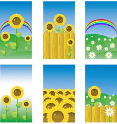 sunflower banners vector image