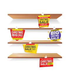 supermarket shelves holidays christmas sale vector image