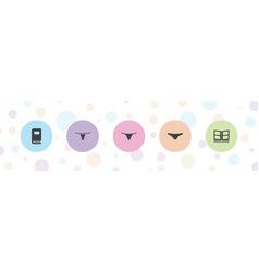 Type icons vector