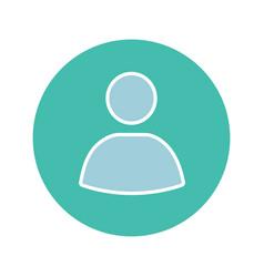 User account circle glyph color icon vector