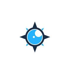 Vision compass logo icon design vector
