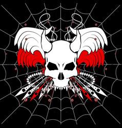 Web skull vector
