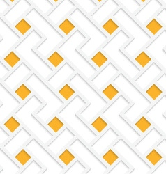 White 3D with colors orange squares vector image
