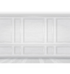 White wooden wall panel vector
