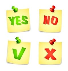 Yes and No Check marks vector image