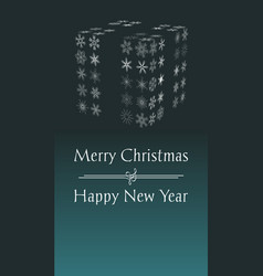 christmas and new year greeting card with text vector image vector image