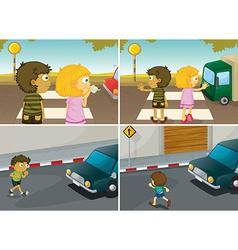 Road crossing vector image