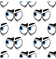 Seamless cartoon blue eyes pattern vector image