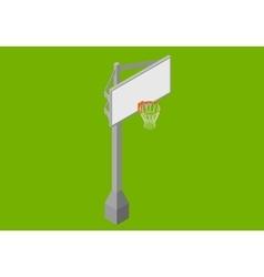 Basketball backboard isometric flat vector