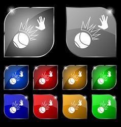 Basketball icon sign Set of ten colorful buttons vector image vector image