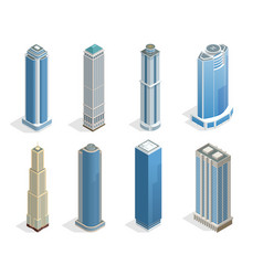 buildings and modern city houses on 50-70 floors vector image