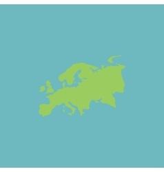 Eurasia map flat icon vector image vector image