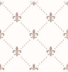 fleur de lis sign and dot seamless pattern vector image vector image