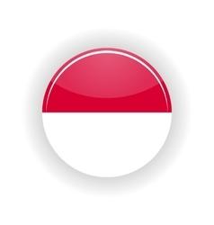 Indonesia icon circle vector