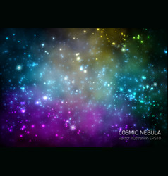 space background with stars and nebula vector image