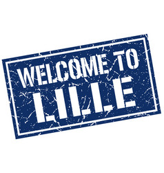 welcome to lille stamp vector image vector image