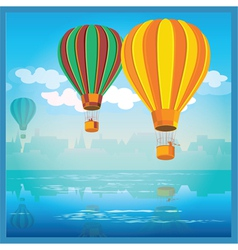 air balloons over water vector image