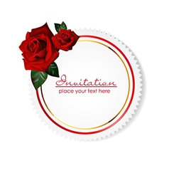 card with rose vector image