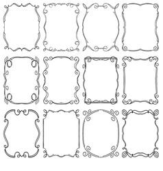 frames design elements Editable file vector image vector image