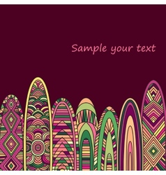 Indian ethnic idol wall wood amulet vector image vector image