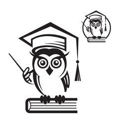 school owl icon vector image