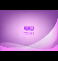 Abstract purple wave background with copy space vector