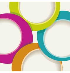 Circle background for a poster or brochure vector image vector image