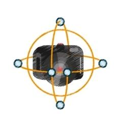 drawing vr camera digital video function vector image