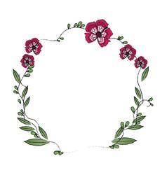 Floral wreath flowers decoration image vector