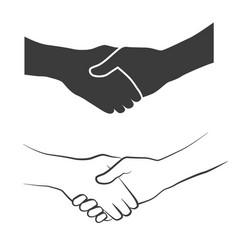 handshake icons vector image