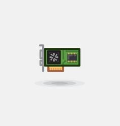 icon computer board video card sound card vector image