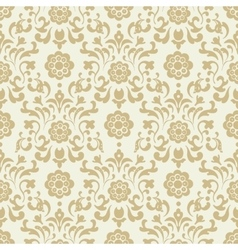 Ornate vintage seamless damask background vector image vector image