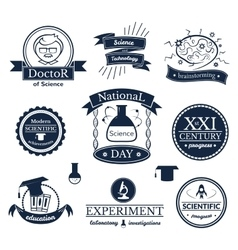 Science signs set vector image vector image