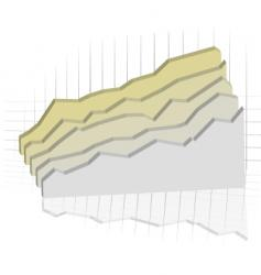 subtle graph vector image vector image