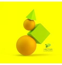 3d geometrical composition vector