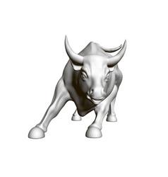 A running bull 3d vector