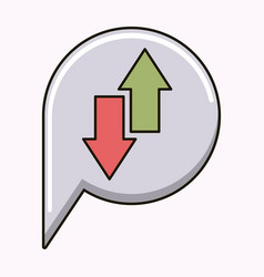 arrows up and down isolated icon vector image