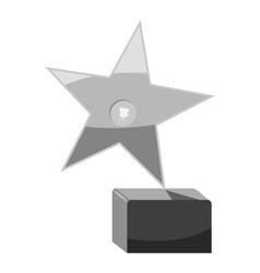 Award star icon gray monochrome style vector