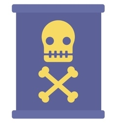 Barrel with skull and bones vector