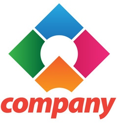 beautiful corporate logo vector image